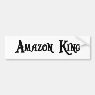 Rey pegatina para el parachoques del Amazonas Pegatina De Parachoque