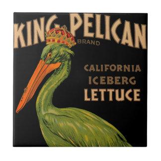 Rey Pelican Brand Lettuce Azulejo Cuadrado Pequeño