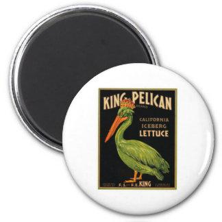 Rey Pelican Lettuce Imán De Frigorífico