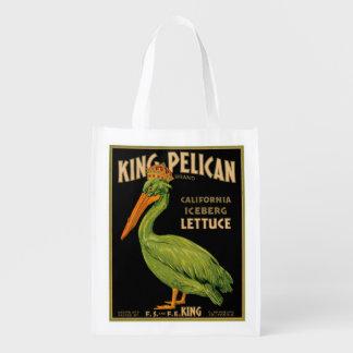 Rey Pelican Lettuce Produce Label - bolso de ultra