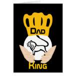 Rey-Personalizar del león de la familia del papá Tarjeta De Felicitación