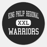Rey Philip Regional - guerreros - alto - Wrentham Pegatinas Redondas