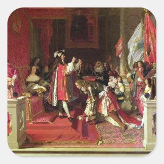 Rey Philip V de España Pegatina Cuadrada