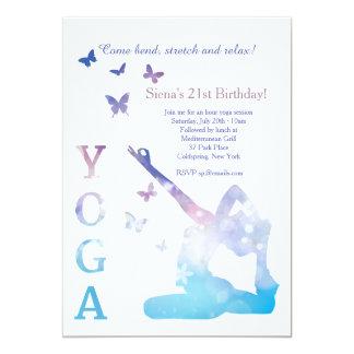 """Rey Pigeon Invitation de la yoga Invitación 5"""" X 7"""""""