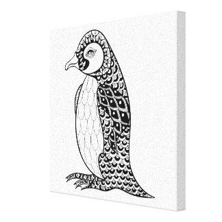 Rey pingüino artístico Zendoodle 6 Lienzo Envuelto Para Galerias