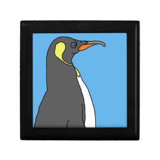 Rey pingüino de sexo masculino cajas de recuerdo