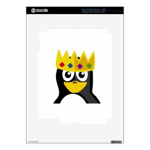 Rey pingüino iPad 2 skin