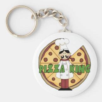 Rey Pizza Keychain de la pizza Llavero Personalizado