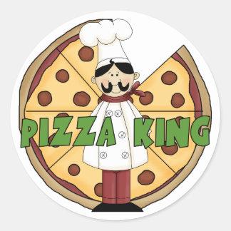 Rey Pizza Stickers de la pizza Etiqueta Redonda