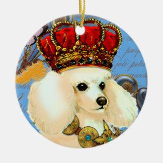 Rey poner crema Christmas Ornament del caniche del Adorno