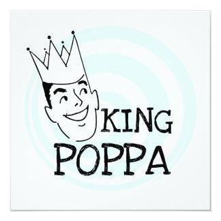 """Rey Poppa T-shirts y regalos Invitación 5.25"""" X 5.25"""""""