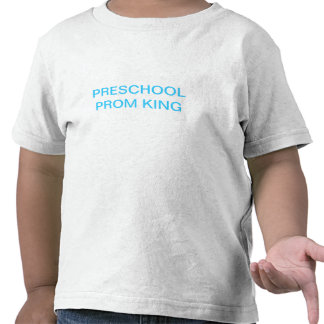 Rey preescolar del baile de fin de curso camiseta