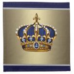Rey príncipe Crown Cocktail Napkins del oro de los Servilletas Imprimidas
