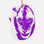 Rey púrpura del león adornos