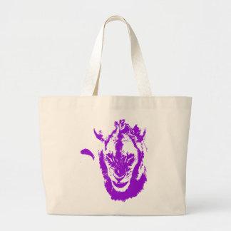 Rey púrpura del león bolsas de mano