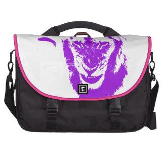 Rey púrpura del león bolsas de portátil