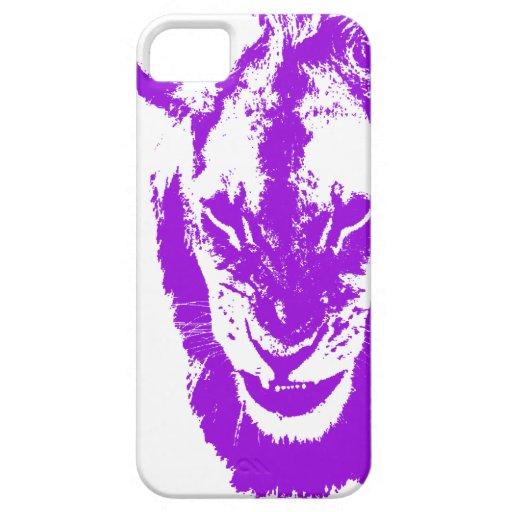 Rey púrpura del león iPhone 5 Case-Mate funda