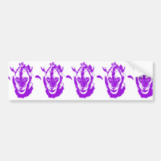 Rey púrpura del león pegatina para auto