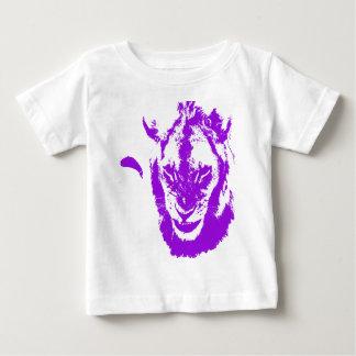 Rey púrpura del león playera de bebé