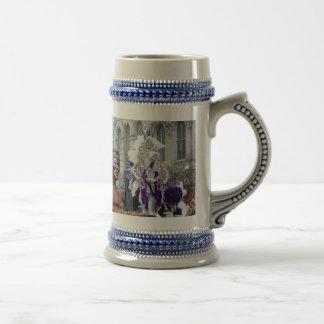 Rey púrpura del Zulú de Mardis Gras Jarra De Cerveza