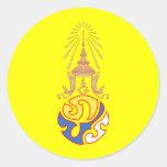 Rey Rama IX, Tailandia Pegatina Redonda