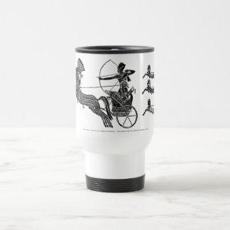 ¡Rey Ramesses II y su taza del viaje del vintage