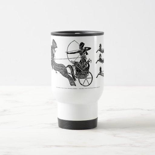 ¡Rey Ramesses II y su taza del viaje del vintage d