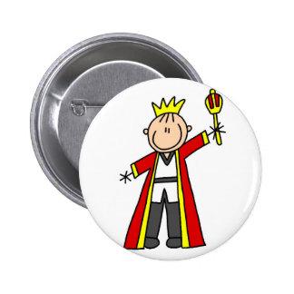 Rey real Button Pin Redondo 5 Cm