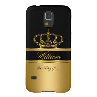 Rey real con clase elegante Gold Black Crown 2a Carcasa Para Galaxy S5