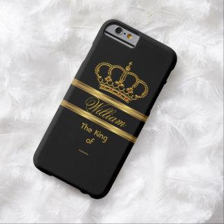 Rey real con clase elegante Gold Black Crown 3 Funda De iPhone 6 Barely There