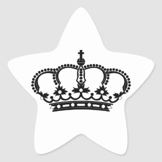 Rey real del Príncipe heredero Calcomanías Forma De Estrella Personalizadas