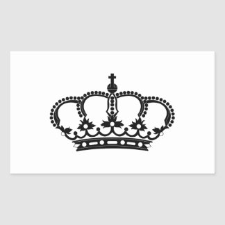 Rey real del Príncipe heredero Rectangular Pegatina