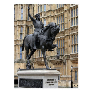 Rey Richard el Lionheart - el parlamento - postal