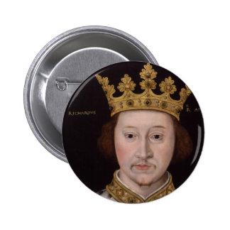 Rey Richard II de Inglaterra Pin Redondo De 2 Pulgadas