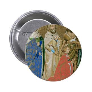 Rey Richard II - díptica de Wilton Pin Redondo 5 Cm