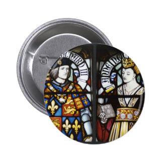 Rey Richard III y reina Anne de Inglaterra Pin Redondo De 2 Pulgadas