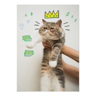 Rey rico Cat Posters