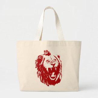 Rey rojo del león bolsas de mano