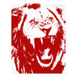 Rey rojo del león plantilla de membrete
