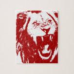 Rey rojo del león rompecabezas