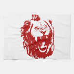 Rey rojo del león toalla