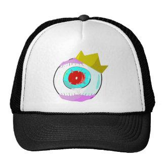 Rey rojo del ojo del globo del ojo gorro de camionero
