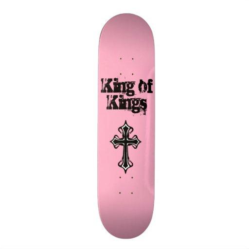 Rey rosado de reyes Skateboard Deck Tablas De Patinar