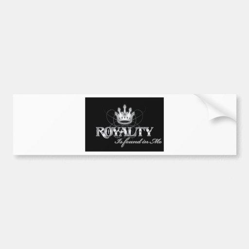 Rey Royalty Pegatina De Parachoque