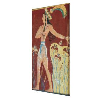 Rey-Sacerdote o príncipe con los lirios Impresión En Lona