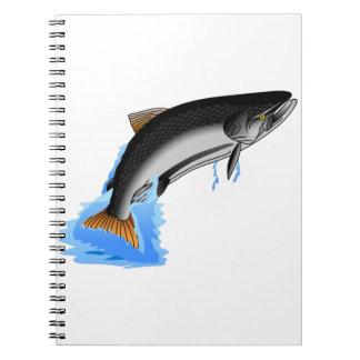 Rey salmón libreta espiral