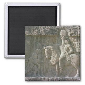 Rey Shapur I y valeriana Sassanian Imán Cuadrado