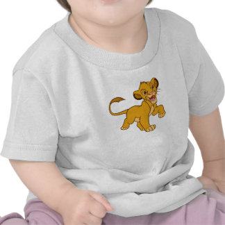 Rey Simba Disney que camina del león Camisetas