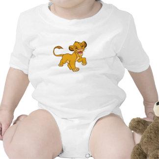 Rey Simba Disney que camina del león Trajes De Bebé