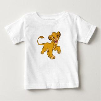 Rey Simba Disney que camina del león Playera Para Bebé